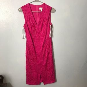 Bisou bisou all over lace pink dress size 8